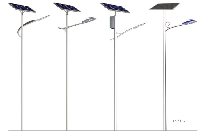 solar lamp with pole