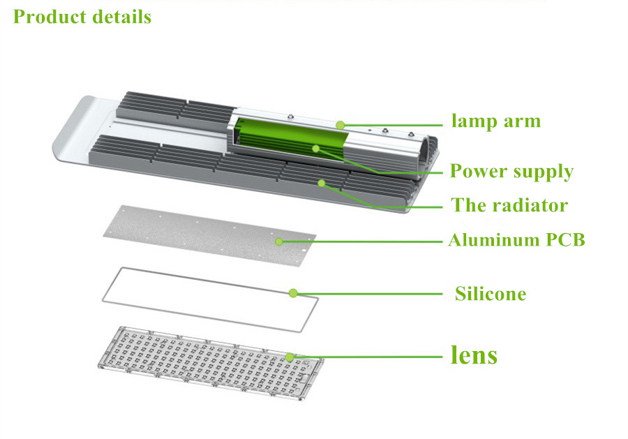 led street lamp structure